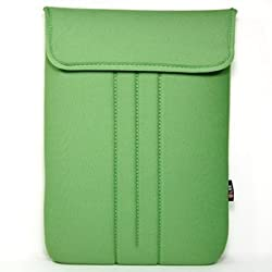 Cosmos Green Neoprene/Cotton 13.3 Inch and 13 Inch Laptop notebook computer case/bag/sleeve