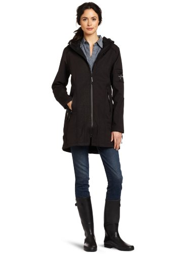 ILSE JACOBSEN Women's Tapered Soft Shell Jacket, Black, 36
