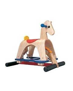 plan toys rocking horse lusitano