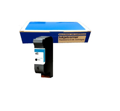 Inkjetcorner 1 Pack Of Hp 51645A 45 Black Remanufactured Print Ink Jet Cartridge High Quality For Hp Deskjet Printers 710C 712C 720C 722C 820C 820Cse 820Cxi 830C 832C 850C 850Cxi 855C 855Cse 855Cxi 870C 870Cse 870Cxi 880C 882C 890C 890Cse 890Cxi 895C 895C