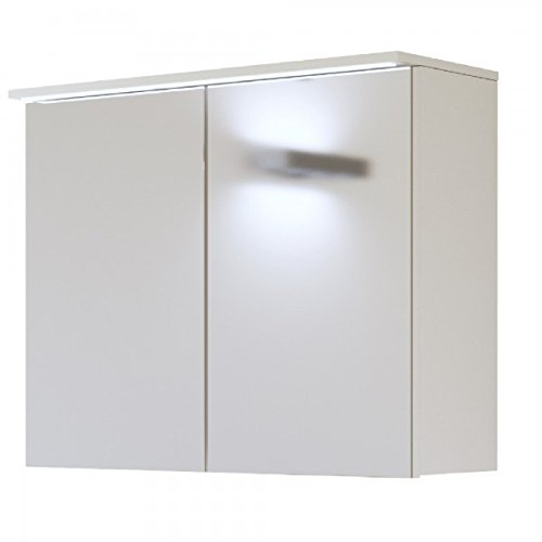 Armadietto a specchio 'Jay SP' bagno specchio mobile da bagno armadietto a specchio LED moderno, Jay Weiß 80cm