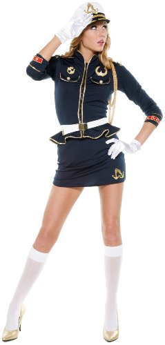 Forplay Women's Cutie Cadet,Navy,Medium/Large