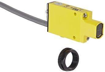 Banner SM2A312D Mini Beam AC Photoelectric Sensor, Infrared LED, Diffuse Mode, 380mm Range