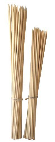 Set Of 200 - Thin Bamboo Skewers Shish Kabob BBQ Appetizers Home & Kitchen