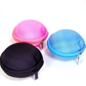 Bluecell Black/Blue/Pink Earphone In-Ear Hard Case/Bag Pack Of 3