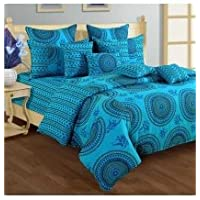 Swayam Shades N More Printed Cotton Single AC Comforter - Turquoise (ACS 11-1426)