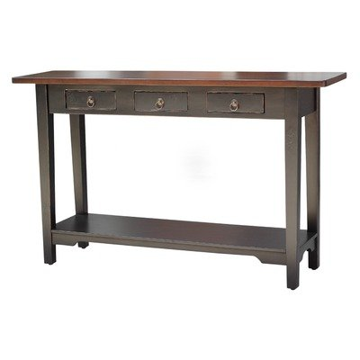 Cheap Colonial Console Table in Distressed Black (MAH009BLKMB)