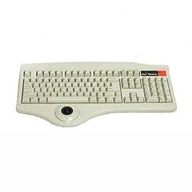 Beige USB Keyboard w/trackball TRACKBALL-U1