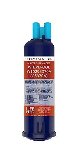 LifeH20 Water Filter, Compatible with Whirlpool W10295370A Filter 1 and Kenmore 46-9930 models (Refrigerator Filters Kenmore 9930 compare prices)