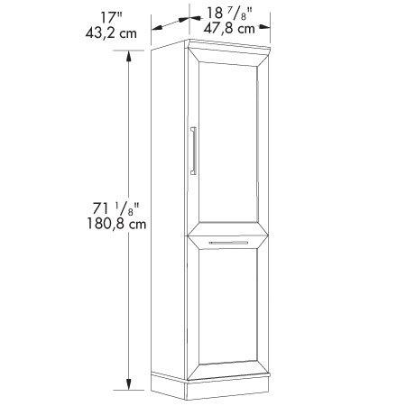 Sauder Homeplus Storage Cabinet, Dakota Oak Finish