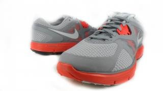 Nike Women's Lunarglide+ 3 - Wolf Grey / Pure Purple-Stealth-Max Orange, 10 B US