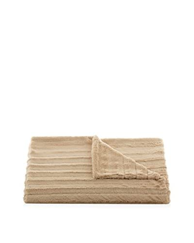 Tourance Plush Channel Throw, Sahara