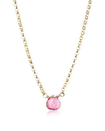 Heather Hawkins Pink Tourmaline Tiny Necklace