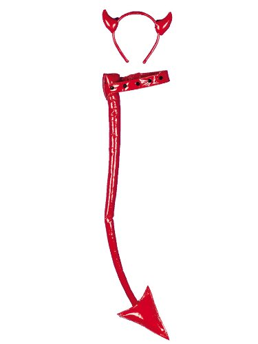 Red Classic Devil Horns Instant Theatre Costumes
