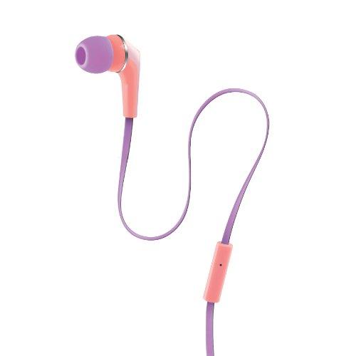 Urban Beatz Equinox Buds With Mic And Remote - Orange/Purple Pastel (Ub-Em200-876)