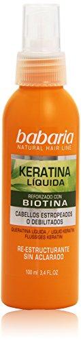 Babaria Cura Capillare, Cheratina Líquida Reforzado con Biotina, 100 ml