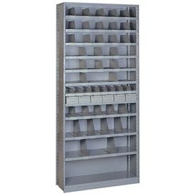 Sliding Shelf Shelving - 52 Opening Unit Color: Wedgewood Blue, Fifth Shelf Layout: Six Shelf Boxes