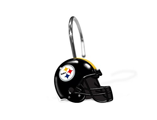 The Northwest Company NFL Pittsburgh Steelers Shower Curtain Rings at Steeler Mania
