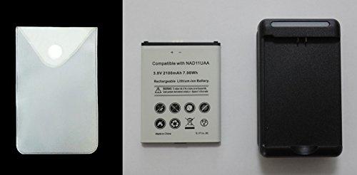 UQコミュニケーションズ モバイルルーター NAD11用電池パック+収納用ケース+充電器セット Wi-Fi WALKER WiMAX2+ 予備バッテリー+充電器セット