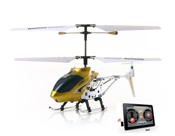 3-Channel RC Helicopter Compatible with iPhone, iPad, iPod Infrared Remote Controller (Yellow)