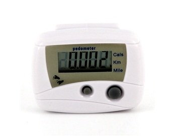 Image of Multifunctional Electronic Digital Pedometer Step Counter (White) (B009QLXCW2)