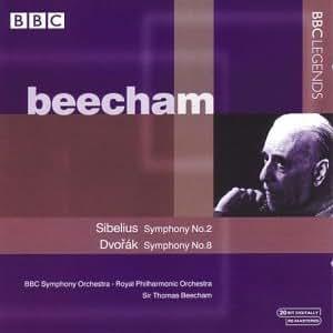 シベリウス:交響曲第2番/ドヴォルザーク:交響曲第8番(BBC響/ホーレンシュタイン/ロイヤル・フィル/ビーチャム)(1954, 1959)