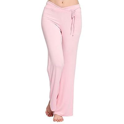 LIANTANG Womens Soft Elastic Waistband Fitness Loose Yoga Pants