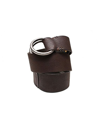 DIESEL - Cintura in cuoio RINGBIG - marrone, 70