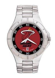 Miami Heat Mens Pro Ii Sterling Silver Bracelet Watch by Logo Art