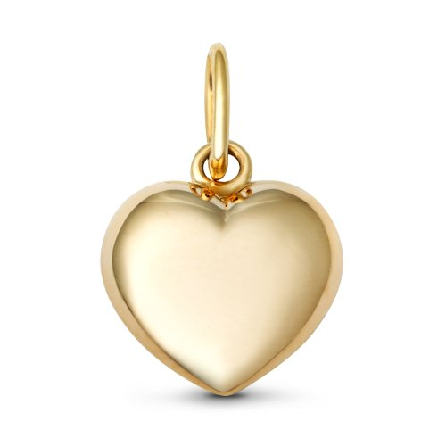 Miore 9ct Yellow Gold Ladies Plain Heart Pendant (Pendant Only)