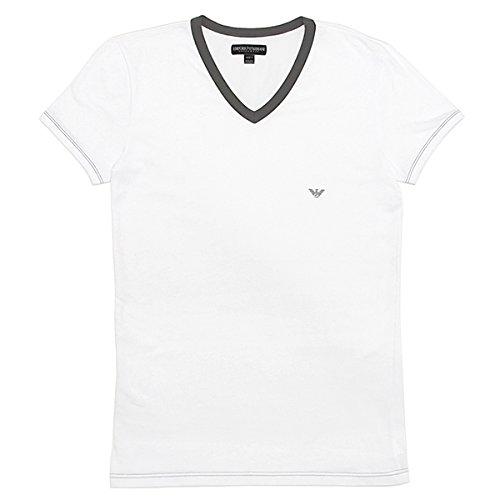 (エンポリオアルマーニ) EMPORIO ARMANI エンポリオアルマーニ 半袖Tシャツ メンズ EMPORIO ARMANI 110810 4P540 00010 VネックTシャツ ストレッチ アンダーウェア WHITE[並行輸入品]