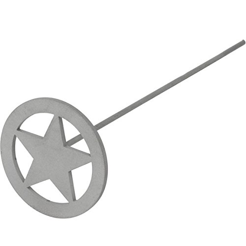 Mini Circle Star Wood/Leather Branding Iron | BBQ Fans (Iron Stars compare prices)