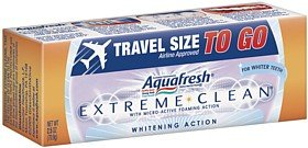 Aquafresh Extreme Clean 2.5oz Travel SizeAquafresh Extreme Clean 2.5oz Travel Size