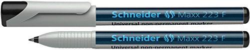 Schneider Maxx 223 Marqueur pour Transparents Couleurs Assortis Pochette de 4