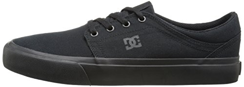DC Men's Trase TX Skate Shoe, Black/Black/Black, 10.5 M US