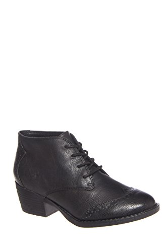 Ally Low Heel Lace Up Bootie