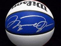 Michael Jordan Hand Signed Wilson ABA Basketball