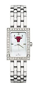 Chicago Bulls Ladies Steel Band Allure Watch by NBA Officially Licensed