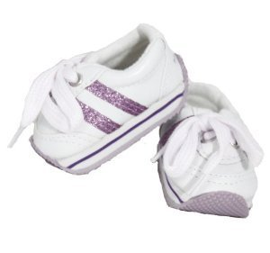 "Unique Doll Clothing LAVENDER SNEAKERS, JOGGING, RUNNING, SPORTS,"" Doll Shoes - 1"