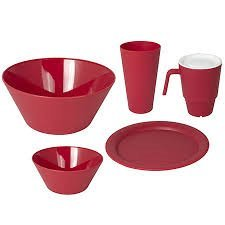 Creativeware 21Pc Unbreakable Dinnerware Set- Cherry