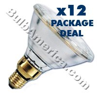 12 pcs. Osram 250w Par 38 Flood (FL) Bulbs Package Deal