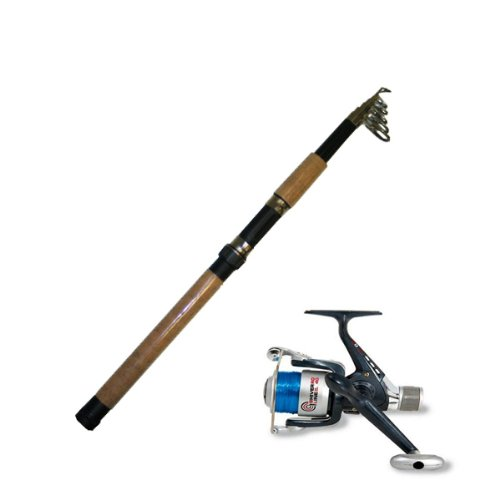 Telescopic Fishing Rod and 50 Series Reel Combo Ideal for Holidays