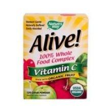 Natures Way Alive Organic Vitamin C Powder, 120 Gram -- 3 Per Case.