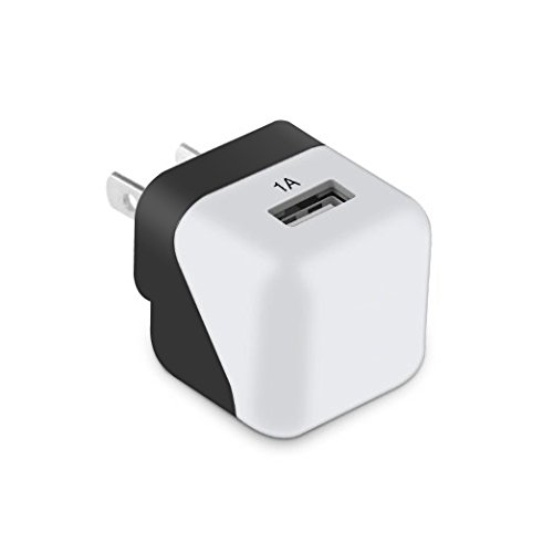 Wall Charge(24W 1-Port 1A iPhone Charger [Black] / USB Wall Charger with Plug) Apple Charger for iPhone 6s / 6 / 5s, iPad Air / mini, Samsung Galaxy S6 / Edge / Plus, Portable Chargers and More