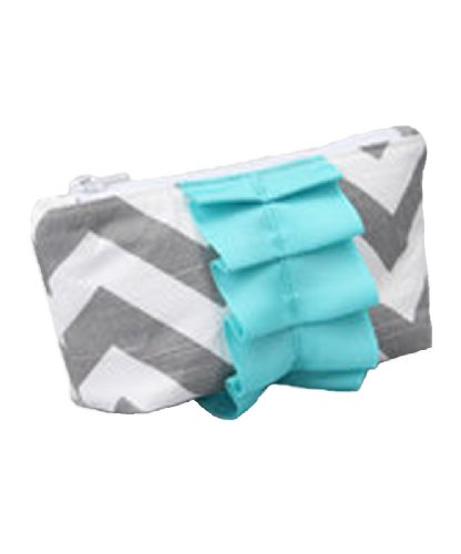 Caught Ya Lookin' Diaper Bag Mother's Cosmetic Purse, Gray Chevron