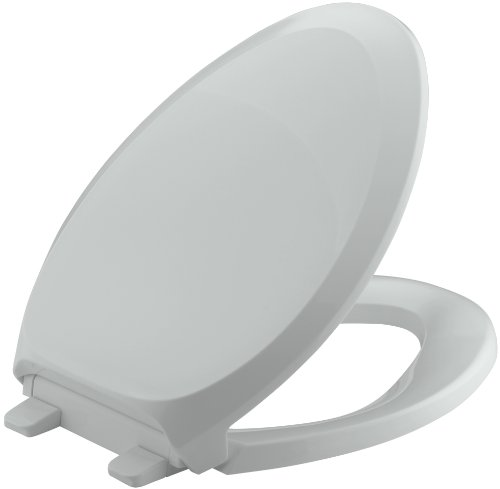 Kohler K-4713-95 French Curve Quiet-Close Elongated Toilet Seat, Ice Grey
