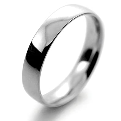 Platinum Wedding Ring Court Light Weight - 4mm