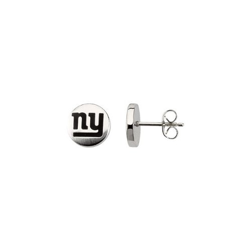 24663 St Steel Pair 10mm New York Giants Logo Stud Earrings Football NFL Men Team