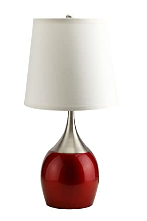 candy apple red metalic table lamp light retro modern 8310rd. Black Bedroom Furniture Sets. Home Design Ideas