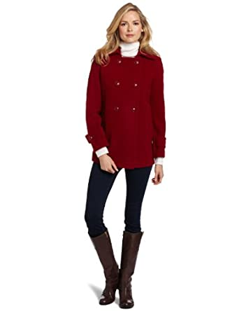 Larry Levine Women's Plush Wool Peacoat 拉里莱温女士羊毛大衣三色$81